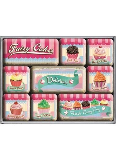Nostalgic Art Fairy Cakes- Delicious Magnet Set Renkli